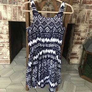 Navy & White Sequin Hearts Dress